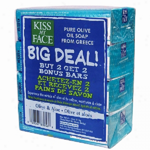 Kiss My Face's Soap Shoal Olive Oil & Aloe Multipack 4/4oz