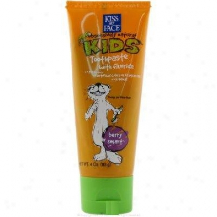 Kiss My Fae's Toothpaste Kids Obsessively Naturalã¿â¿â¾ Berry Smart  4 Fl Oz