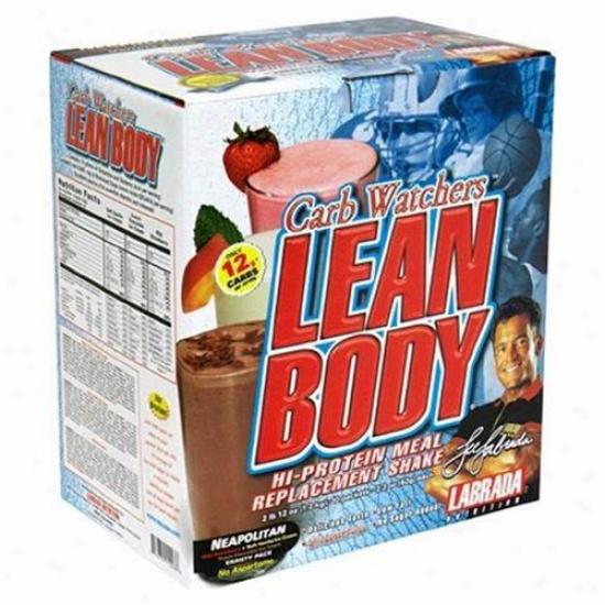 Labrada's Lean Body Carb Watchers Hi-protein Mrp Shake Neapolitan 2.29oz 20pkts