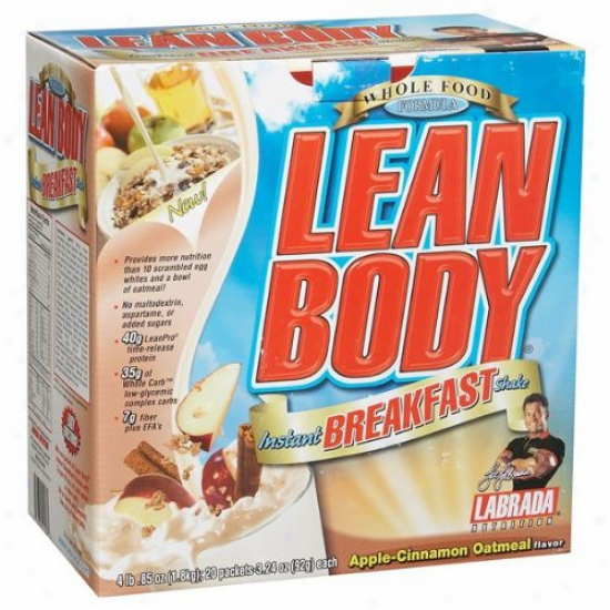 Labrada's Lean Trunk  Instant Breakfast Shake Apple-cinnamon Oatmeal 2.29oz 20pkts