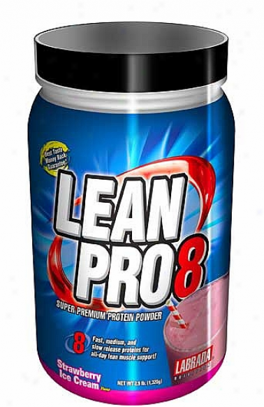 Labrada's Lean Pro 8 (super Annual rate  Protein) Strawberry 2.9lb