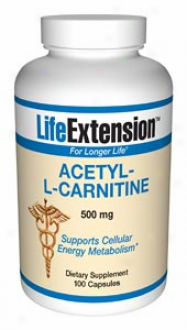 Life Extension's Acetyl-l-carnitine 500mg 100caps
