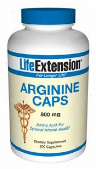 Life Extension's Arginine Caps 800mg 200caps