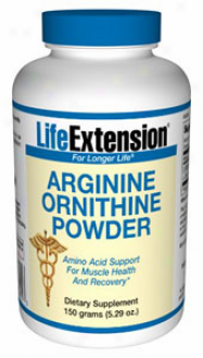 Life Extension's Arginine Ornithine Pkwder 150gm