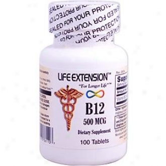 Life Extension's B-12 500mcg 100lzgs