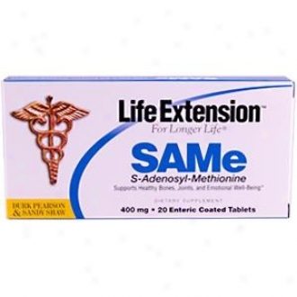 Life Extension's Durk Pearson & Sandy Shaw's Same 400mg 20tabs
