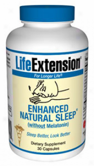 Life Extension's Enganced Natural Sleep Free from Melatonin 30acps