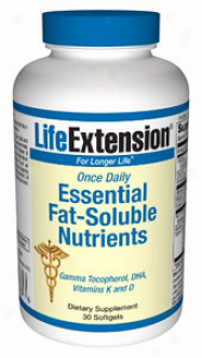 Life Extension's Essential Fay Soljble Nutrients 30sg