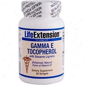 Life Extension's Gamma E Tocopherol W/ Sesam3 Lignans 60sg