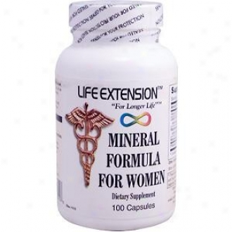Life Extension's Mineral Formula For Women 100caps