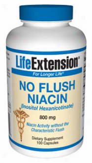 Life Extension's No Redden Niacin Inositol Hexanicotin.800mg 100vcaps
