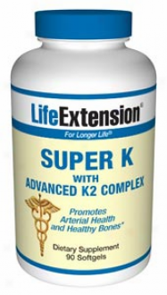 Life Extension's Super K With Advanced K2 Complex 90sg