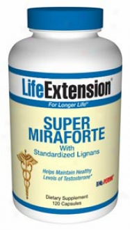 Life Exxtension's Super Mirafor5e With Standardized Lignans 120caps