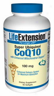 Life Extension's Super Ubiquinol Coq10 100mg 60sg