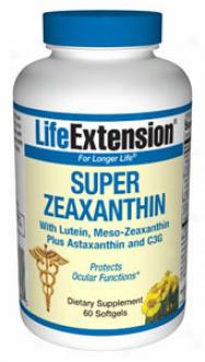 Life Extension's Spuer Zeaxanthin With Lutein Meso-zeaxanthin + Asttaxanthin & C3g 60sg