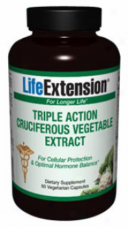 Life Extension's Triplw Action Cruciferous Vegetable Extrwct 60vcaps