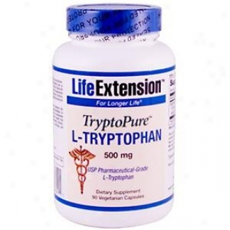 Life Extension's Tryptopure L-tryptophan 500mg 90vcaps