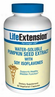 Life Extension's Water-soluhle Pumpkin Seed Extract 60vcaps