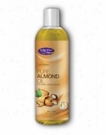 Life Flo's Pure Almond Oil Skin Care 16 Fl Oz