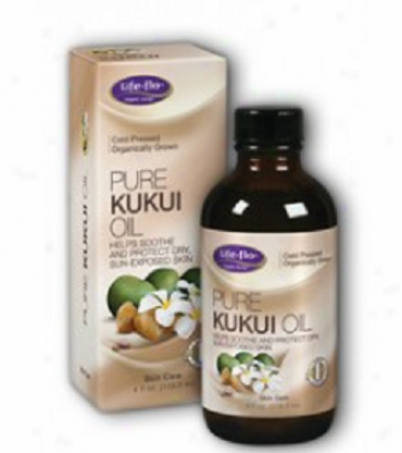 Life Flo's Pure Kjkui Oil For Peel 4oz