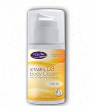 Life Flo's Vitamin D3 Body Cream 1000iu 4oz