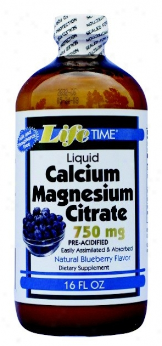 Lifetime's Calcium Magensium Citrate Blueberry Flavor 16oz
