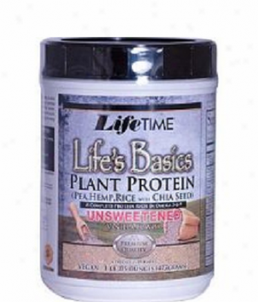 Lifetime's Life's Basics Plant Protein Unsweetened Vanilla 1.05lb