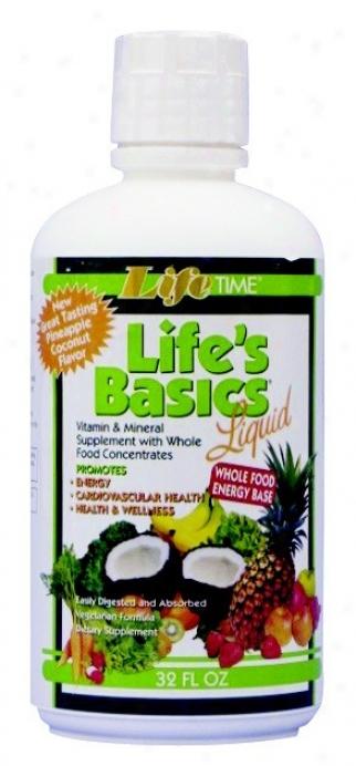 Lifetime's Life's Basicd Vit & Min Liq 32 Fl Oz