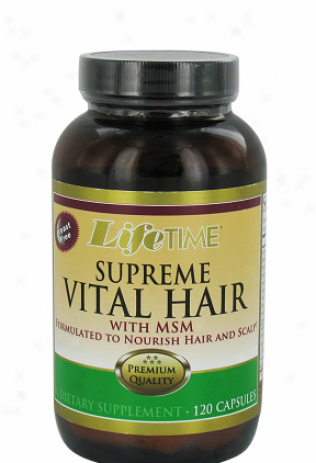 Lifetime's Supreme Necessary to life Hair W/ Msm 120caps