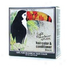 Light Mountain's Hair Color & Conditioner Black 4oz