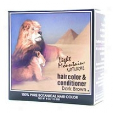 Light Mountain's Hair Color & Conditioner  Dark Brown 4oz