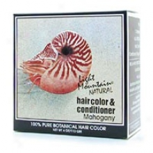 Light Mountain's Hair Color & Conditioner Mahogany 4oz