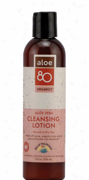 Lily Of The Desert's Aloe 80 Organics Cleansing Lotion 8z