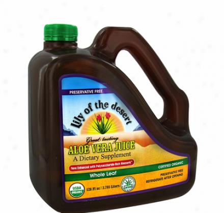 Lily Of The Desert's Aloe Vera Juice Whole Leaf Preservative Gratuitous 1gallon