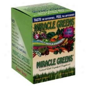 Macrolife Natural's Macro Greens Super Food Supplement  Packets 12pkts