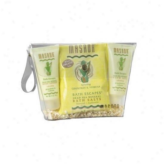Masada's Bath Kit Grapefruit & Verbena 1kit 3pcs