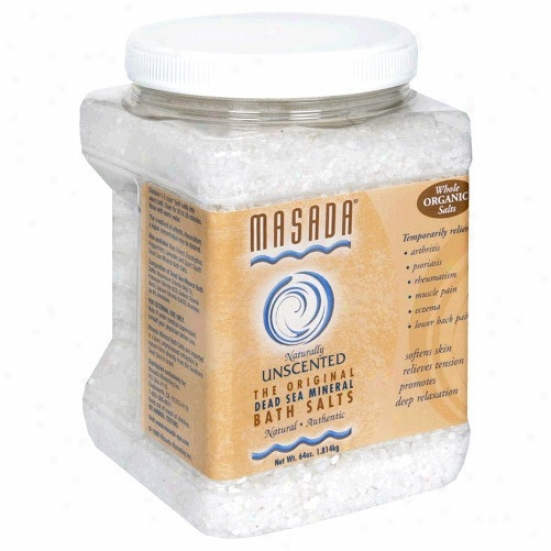 Masada's Bath Salt Natural-unscented 64oz