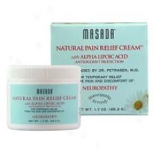 Masada's Spa Natural Pain Relief Cream W/ Alpha Lipoic Acid 4oz