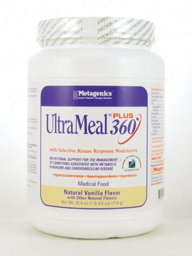 Metagenics Ultrameal Plus 360/soy Vanilla 25.7 Oz