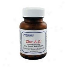 Metagenics Zinc A.g. 20 Mg 60 Tabs