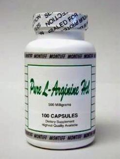 Montiff's Pure L-arginine Hcl 500 Mg 100 Caps