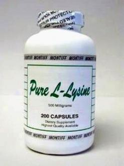 Montiff's Pure L-lysine 500 Mg 200 Caps