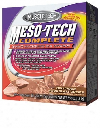 Muscletech's Meso-tech Complete Chocolate Meal Supplement 20 Pk