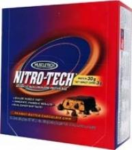 Muscletech's Nitro-bar Peanut Butter Chocolate Chip 12 Bar