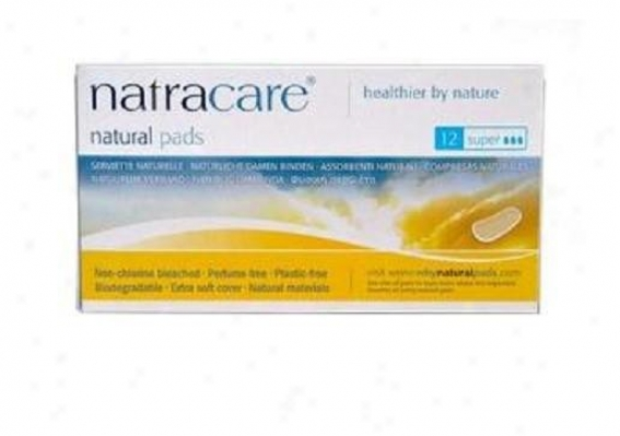 Natracare's Cool Comfort Super 12pads