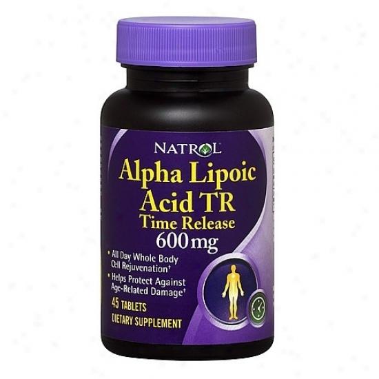 Natrol's Alpha Lipoic Acid T.r. 600mg 45tabs