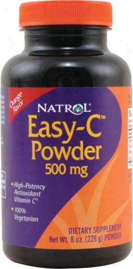 Natrol's Easy-c Powder Orange 500mg 8oz