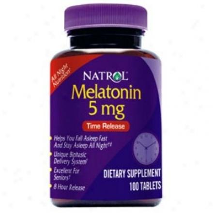 Natrol's Melatonin Tine Release 5mg 100tabs
