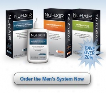 Natrol's Nu Hair Hair Regrowth System For Men 30day Kit