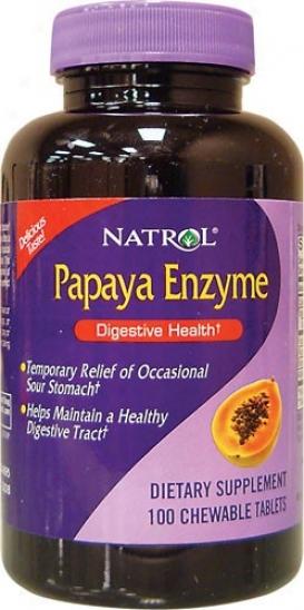 Natrol's Papaya Enzyme Chewable 100tabs